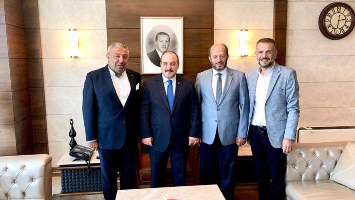 Sanayi ve Teknoloji Bakanı Sayın Mustafa VARANK'ı Makamında Ziyaret Ettik