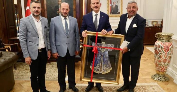 İçişleri Bakanı Sayın Süleyman SOYLU'yu Makamında Ziyaret Ettik